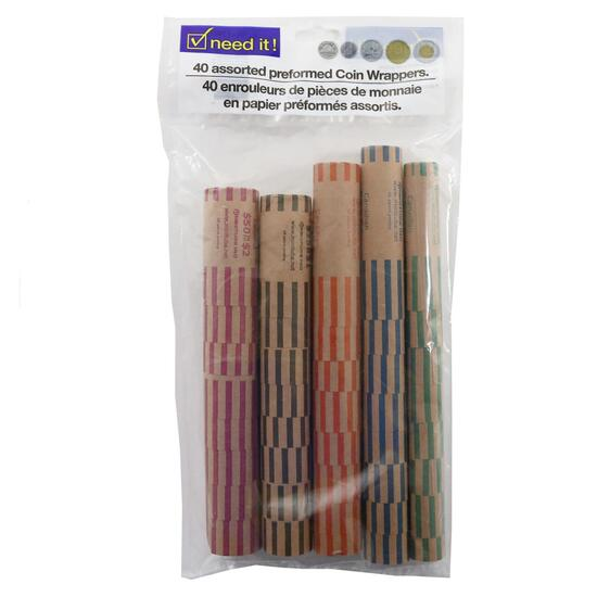 Assorted Coin Rollers - 40pk.