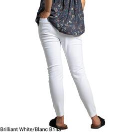 mySTYLE Women's White Button Fly High-Waisted Skinny Jeans - 4-14