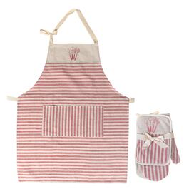 IH Casadécor Kitchen Gift Set with Apron - Red Striped
