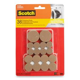 Scotch Round Brown Gripping Pads - 36pk.