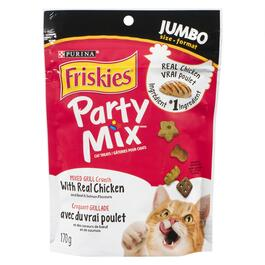 Purina Friskies Party Mix Grill Crunch Cat Treats - 170g