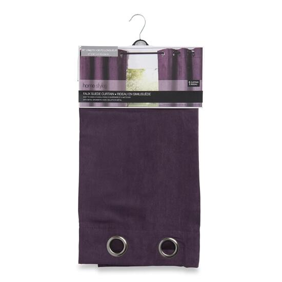HomeStyles Faux Plum Suede Curtain - 96in.