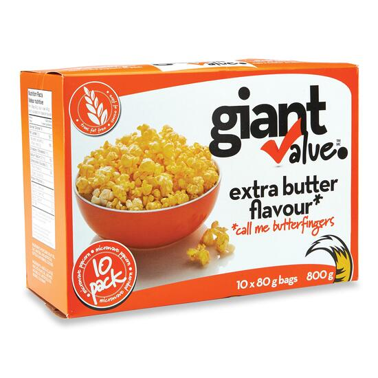 Giant Value Extra Butter Popcorn 3pk. - 240g