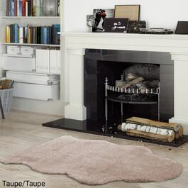 eCarpetGallery New Zealand Taupe Faux Fur Plush Accent Rug