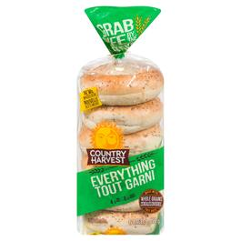 Country Harvest Everything Bagels 6pk - 450g