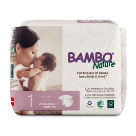 Bambo Nature Size 1 Baby Diapers 6 x 28pk.