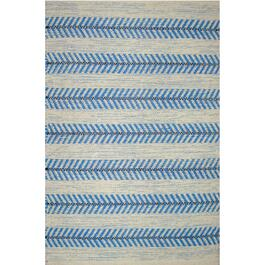 Avocado Décor Blue Dhurrie Arrow Rug - 2ft. x 3ft.
