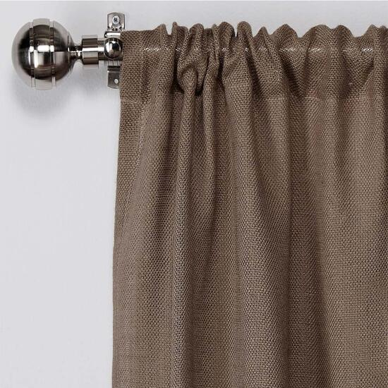 Exclusive Home Natural Burlap Curtains  - 84in.