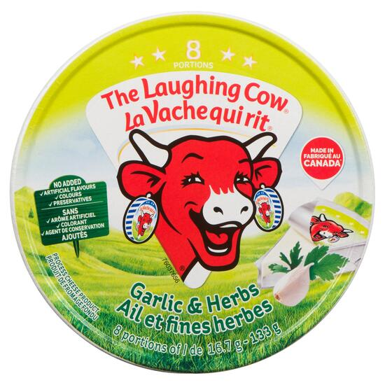 The Laughing Cow Garlic and Herbs Process Cheese 8pk. - 16.7g