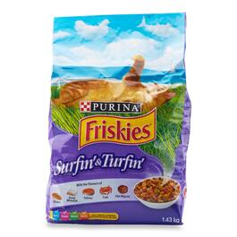 Purina Friskies Surfin' and Turfin' Cat Food - 1.43g