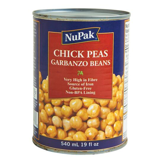 NuPak No Salt Added Chick Peas - 540ml