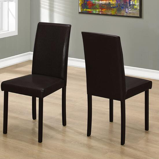 Monarch Specialties Inc. Leather-Look Dining Chair - Set of 2