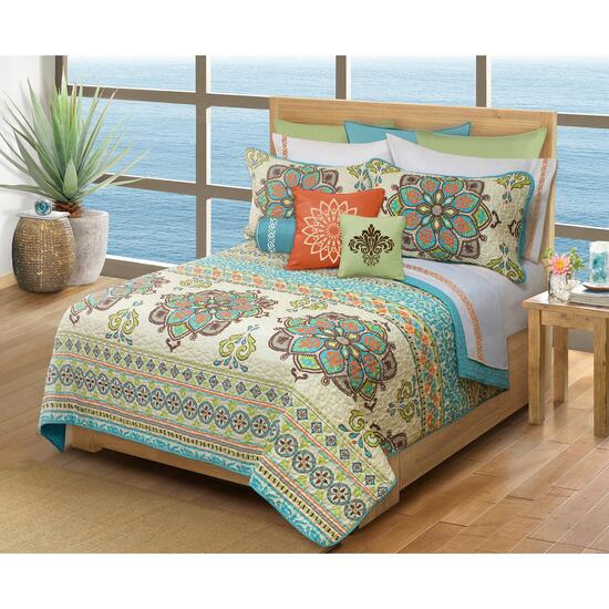 Safdie & Co. Majorca Double/Queen Premium Quilt Set - 3pc.