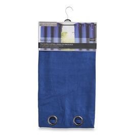 HomeStyles Faux Blue Suede Curtain - 96in.