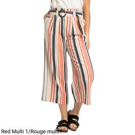 mySTYLE Women's Printed Linen Blend Cropped Pants - S-XL