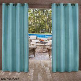 Exclusive Home Delano Textured Indoor Outdoor Curtains - 120in.