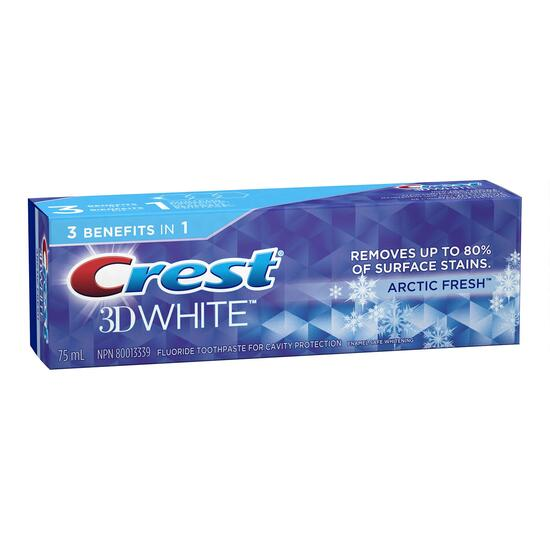 Crest 3D White Arctic Fresh Toothpaste - 75ml