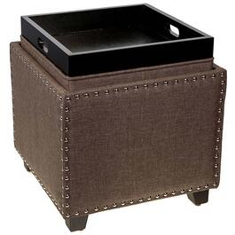 Majestic Storage Ottoman with Flip Lid - Brown