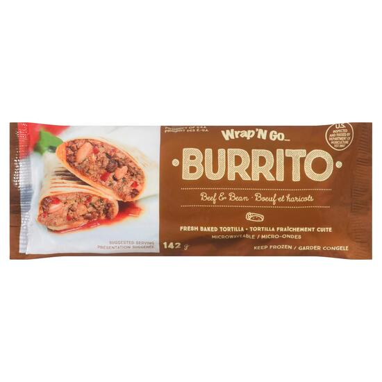Wrap'N Go Beef and Bean Burrito - 142g