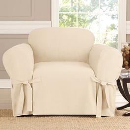 surefit Heavyweight Cotton Slipcover for Armchair in Natural