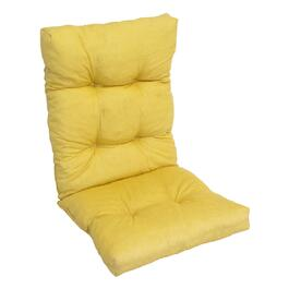 Henryka Yellow Deluxe Reversible High Back Cushion