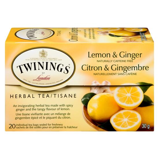 Twinings of London Lemon and Ginger Tea - 20pk.