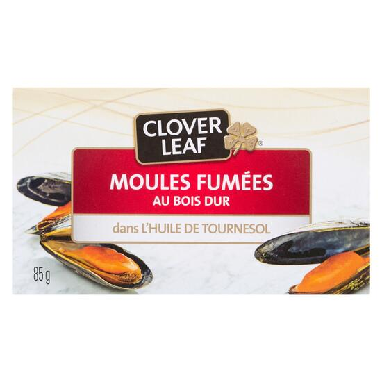Clover Leaf Hardwood Smoked Mussels in Sunflower Oil - 85g
