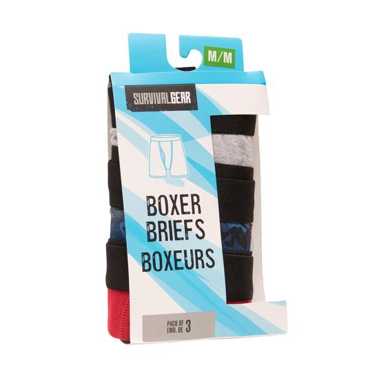 SURVIVAL GEAR Boys Boxers Briefs 3pk. - S-L (7-14)
