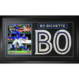 Framed signed Bo Bichette Photograph
