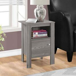 Monarch Specialties Grey Accent Table with Storage
