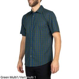 Mountain Ridge Men's Printed Button Front Short Sleeve Shirt - S-XXL