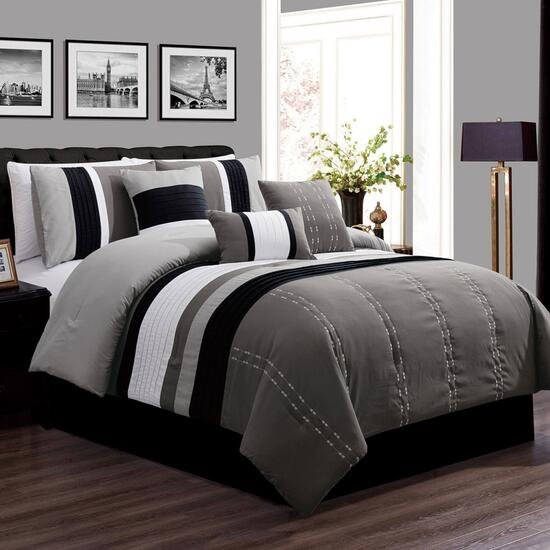Safdie & Co. Luxor Queen Premium Comforter Set - 7pc.