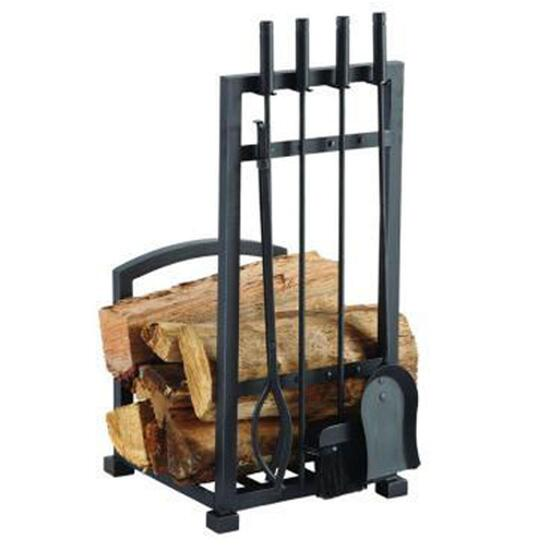 Pleasant Hearth Harper Log Holder and Fireplace Tool Set - 4pc.
