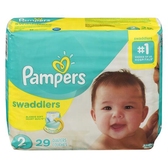 Pampers Swaddlers Size 2 Diapers - 29pk.