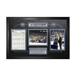 Edmonton Oilers 1988 Stanley Cup Champions Framed Scoresheet Collage