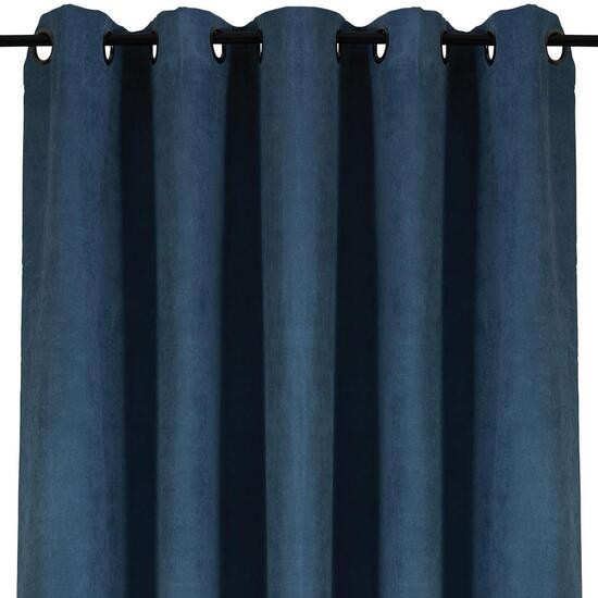 HomeStyles Dark Blue Faux Suede Curtain Panel - 63in.