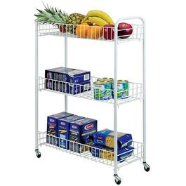 Metaltex Slim 3 Tier Rolling Cart