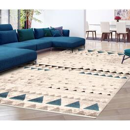 eCarpetGallery Remi Ivory/Blue Area Rug