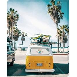 California Beach Canvas Art - 16in. x 20in.