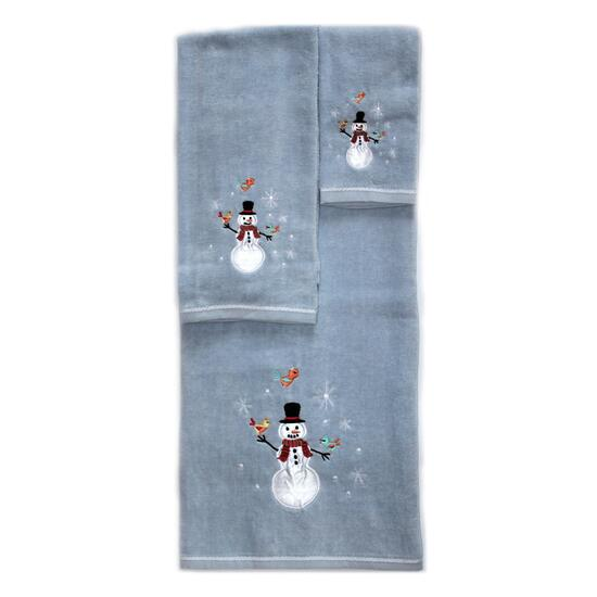 Marina Decoration Snowman Towel Set - 3pc.