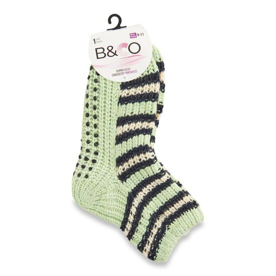Women's Non-Skid Slipper Socks - 9-11