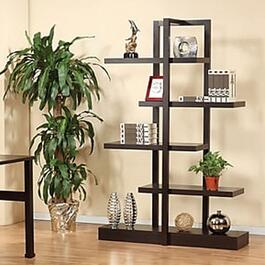 Brassex Dark Cherry 5-Tier Display Shelf