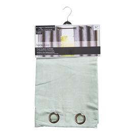 HomeStyles Light Green Faux Suede Curtain Panel - 84in.