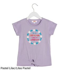MONKEY BARS Girls Graphic Knot Front Tee - 2-6X