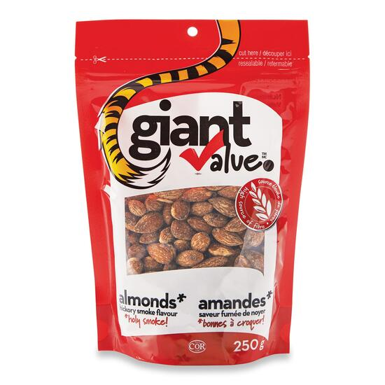 Giant Value Hickory Smoked Almonds - 250g