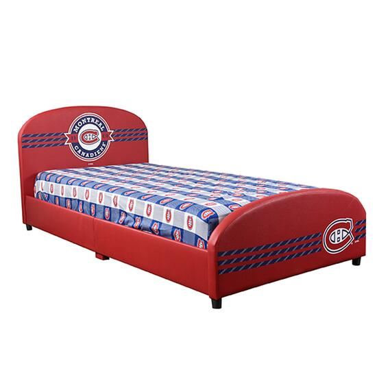 NHL Montreal Canadiens Upholstered Bed Frame - Twin