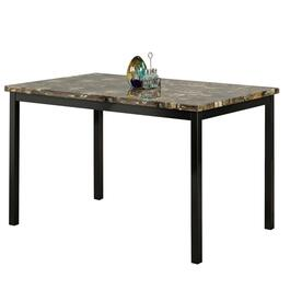 Titus Black Contemporary Faux Marble Table Top Dining Table - 60in.