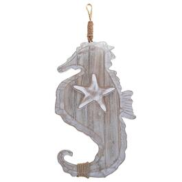 iH Casadecor Natural Wood Hanging Seahorse Décor