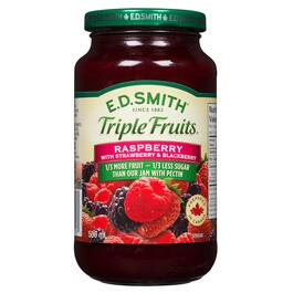 E.D. Smith Triple Fruits Raspberry with Strawberry and Blackberry Spread - 500ml
