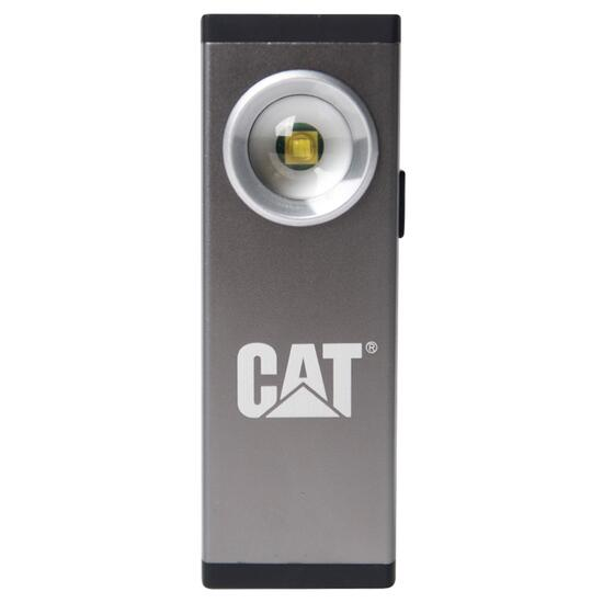 CAT 200 Lumen Unisex Aluminium Rechargeable Silver Pocket Spot Light